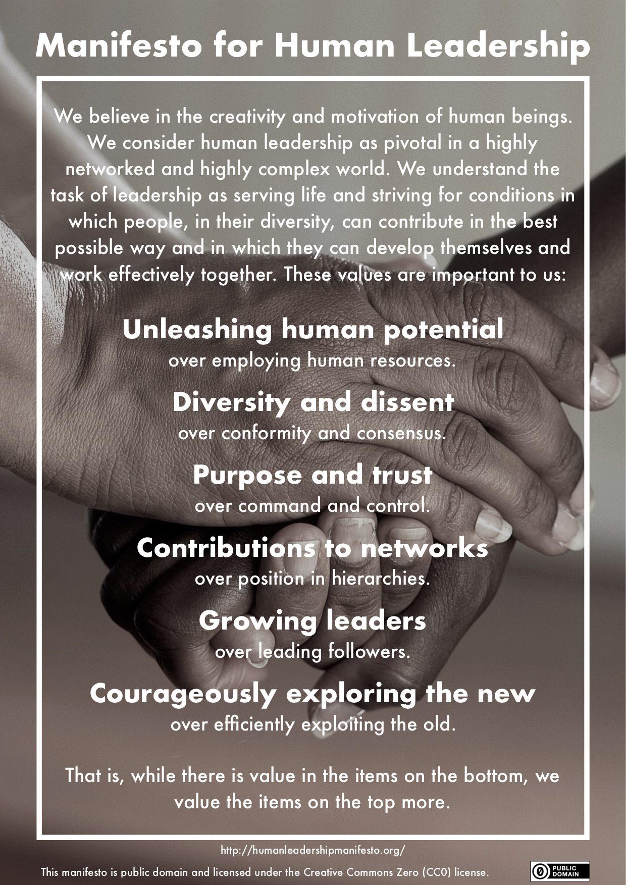 Manifesto for human leadership